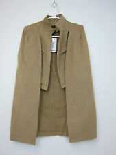 Boohoo Ava Wool Look Cape Coat - Womens One Size - Camel - NWT