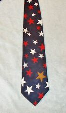 AMERICAN CLASSICS STARS NECK TIE   FREE SHIPPING  BLUE RED WHITE