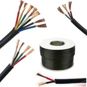 12V 24V 2/3/4/5/7 Core Automotive Marine Cable Round Wire Thinwall DC Twin Amp