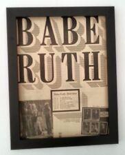 BABE RUTH*UK Tour*1975*ORIGINAL*POSTER*AD*FRAMED*FAST WORLD SHIP