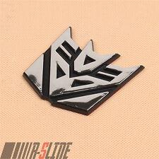 Transformer Decepticon Emblem Sticker Badge Graphics For Your Car Body Chrome