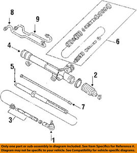 FORD OEM Steering Gear-Outer Tie Rod End 3F2Z3A130BA