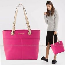 NWT 💖 Michael Kors Soft Pebbled Leather Bedford Top Zip Pocket Tote ULTRA PINK