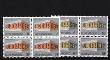 LUXEMBOURG SG836/7, 1969 EUROPA MNH BLOCKS OF FOUR