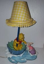 Rare Disney Winnie the Pooh and Piglet In Water - Lamp Upside down umbrella