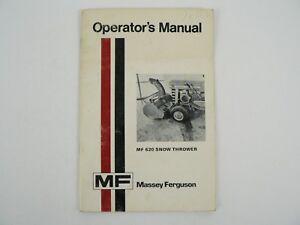 Vintage Massey Ferguson MF 620 Snow Thrower Owners Operators Manual 1974