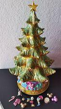 Rare Vintage Disney Disneyland  Fiber Optic Rotating Christmas Light Tree
