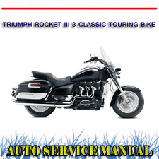TRIUMPH ROCKET III 3 CLASSIC TOURING BIKE WORKSHOP SERVICE REPAIR MANUAL ~ DVD