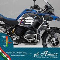 2 Adesivi Fianco Serbatoio Moto BMW R 1200 1250 gs adventure LC world bianco