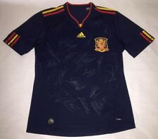 2010 WC Spain Champion Team signed autograph Away jersey Torres Iniesta Puyol