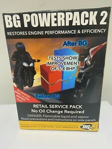 BG POWERPACK 2 NO oil change SERVICE PACK MORE POWER 5-12 BHP injector cleaner