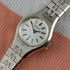 Vintage Seiko Dress Watch - 1960s - White Gold plated - Manual wind cal. 11A