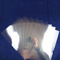 10 Pcs A4 Transparent Printing Paper Glossy Label Plate Film for Inkjet Printer