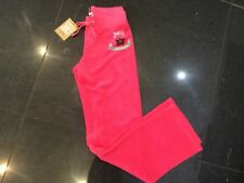 NWT Juicy Couture New & Genuine Girls Age 8 Pink Cotton Pants With Crown Logo