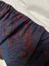 Ralph Lauren Paisley Driver Bed Skirt Queen New