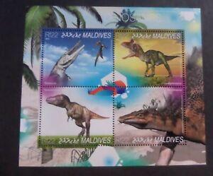 Maldives 2014 Dinosaurs Stegosaurus pre historic animals Sheetlet MNH unmounted