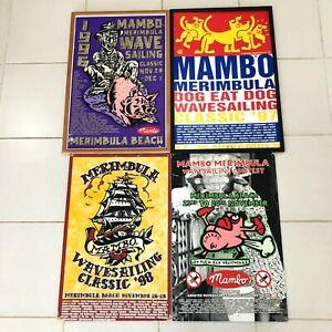 4x Mambo Merimbula Wavesailing Classic Promo Posters RARE 90's Australia Surf