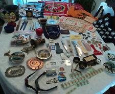 New Listing100 junk drawer lot: lighter, beer coasters, pocket knife, Derby pin, mini sword