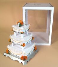 A4 Card Making Template- 3 Tier Wedding Cake