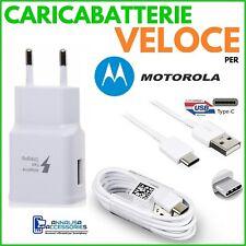 Cargador Rápida Rápido para Motorola Moto Z3 Juego Toma USB+Cable Tipo C