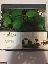 Threshold Unscented Vase Filler Holly Tree Leaves & Berries Decoration 33 Pieces