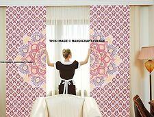 Indian Mandala Huge Hippie Tulle Sheer Voile Window Door Curtain Dorm Decorative