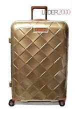 STRATIC Reise Koffer Trolley 4 Rollen Leather and More Beige Champagner L 76 cm