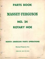 MASSEY FERGUSON 24 ROTARY HOE  PARTS  MANUAL 1962