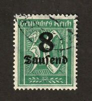 Germany stamp #242a, wmk 126, light cancel, no defects, geniune, CV $6000.00