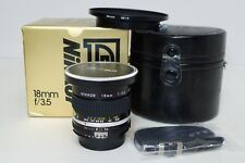 Nikon 18mm f3.5 AIS MF Super Wide Angle Lens f/ SLR w/Box, Hood & Case MINT