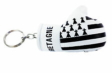 mini boxing gloves keychain keyring key chain ring NEW leather BRITTANY FRANCE