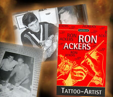 Ron Ackers Tattoo Artist Book in English & German New old stock ! Tattoo History