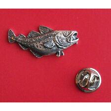 English Pewter COD Fish Fishing Pin Badge Tie Pin / Lapel Badge (XTSBPF5)