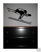 Ski skier VINYL Wall DECAL sticker art decor skiing