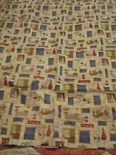 Retro 70's Kitchen Curtains Blue Brown 2 Panels Plus