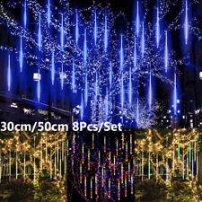4M Noël LED Météore Pluie Guirlande Lumineuse Perle Lampe Étanche Extérieur Déco