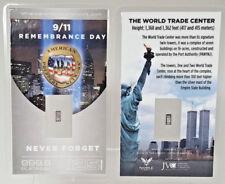 9/11 Remembrance Day PURE 99.9 Platinum .125 Gram Bullion w/COA NEVER FORGET $