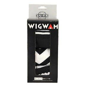 Wigwam Black/White 3 Pairs Holiday Gift Box Extremely Soft Sock Size MD/LG S1501