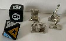 Disney Channel Scene It Replacement Pieces Metal Tokens 4pcs & 2 Dice 2008