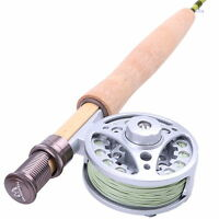 1WT Fly Rod And Reel Combo 6FT Medium-Fast Fly Fishing Rod & Aluminum Fly Reel