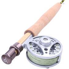 1WT Fly Rod And Reel Combo 6FT Medium-Fast Fly Fishing Rod & Aluminum Fly Reel