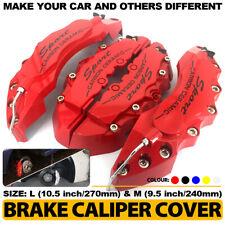 Universal Sport Style Disc Car Brake Caliper Cover Front Amp Rear Kit 4pcs Red Lm Fits Jaguar