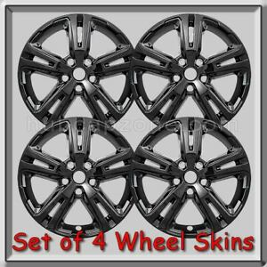 "Black GMC Terrain Wheel Skins 2018-2020 Hubcaps 17"" Black Wheel Covers Set 4"