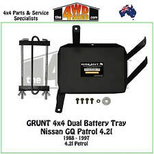 Grunt 4x4 Dual Battery Tray Nissan GQ Y60 Patrol 4.2l Petrol 1988 - 1997