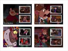 2018 DISNEY The Great Mouse Detective 8 SOUVENIR SHEETS animation cartoons