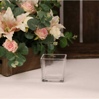 GLASS DESIGNER CUBE FLOWER VASE HOME OR WEDDING CENTER PIECE FLORISTRY