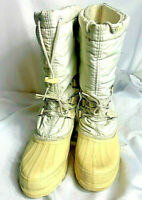 Womens SOREL Kaufman snow lion winter snow boots white size 10