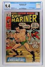Sub-Mariner #30 - Marvel 1970 CGC 9.4 Captain Marvel and Rick Jones Appearance.