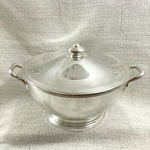 Art Deco Silver Plated Tureen Serving Bowl ERCUIS Hotel George V Paris France