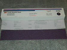 "3M 01793 PURPLE ABRASIVE HOOKIT FILE 25 SHEETS 40E GRADE 2-3/4"" x 16-1/2"" INCHES"